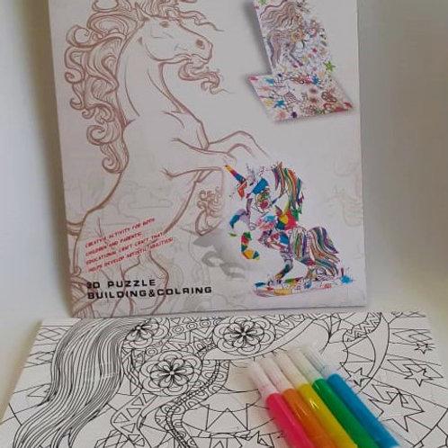 Set Unicornio 3D