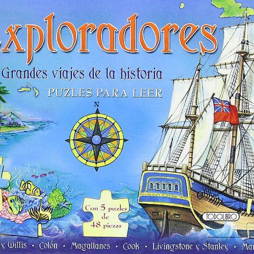 Libro Antiguo Exploradores rompecabezas para leer