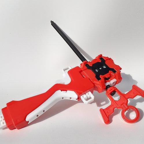 Lanzador Para Beyblade Izquierda/derecha + Agarradera Rojo