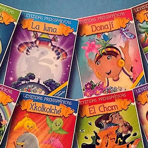 Set de 8 Libros de Leyendas Prehispanicas