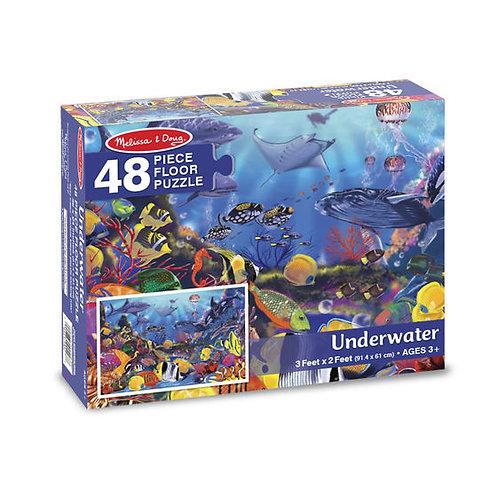 Rompecabezas de piso Bajo el agua - 48 piezas.