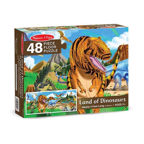 Rompecabezas de piso 48 pzas Tierra de Dinosaurios