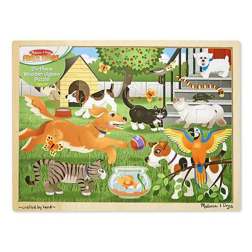 Rompecabezas de madera 24pzas Mascotas