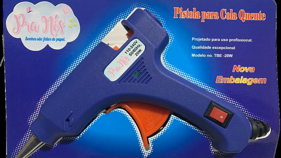 Pistola de Cola Quente com botão liga e desliga