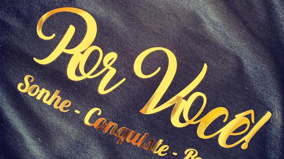 Combo Camiseta #Por Você + Pistola