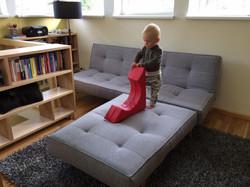 Splitback dīvāns un krēsls
