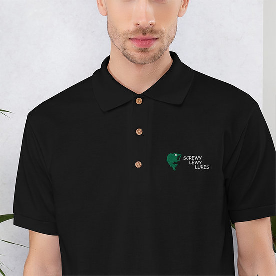 Screwy Lewy Lures Embroidered Polo Shirt