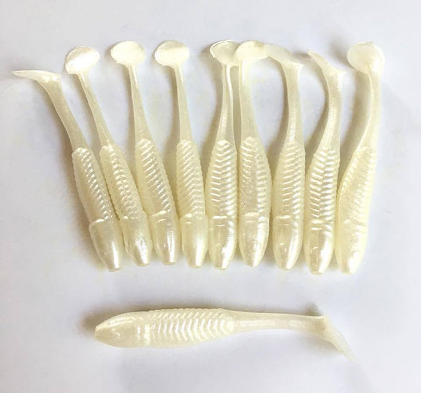 Pearl White Paddle Tails