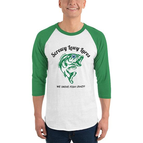 Screwy Lewy Logo 3/4 sleeve Raglan Shirt