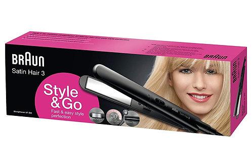 Braun Satin Hair 3 Style & Go Straightener ST300 - Ceramic Hair Straightener
