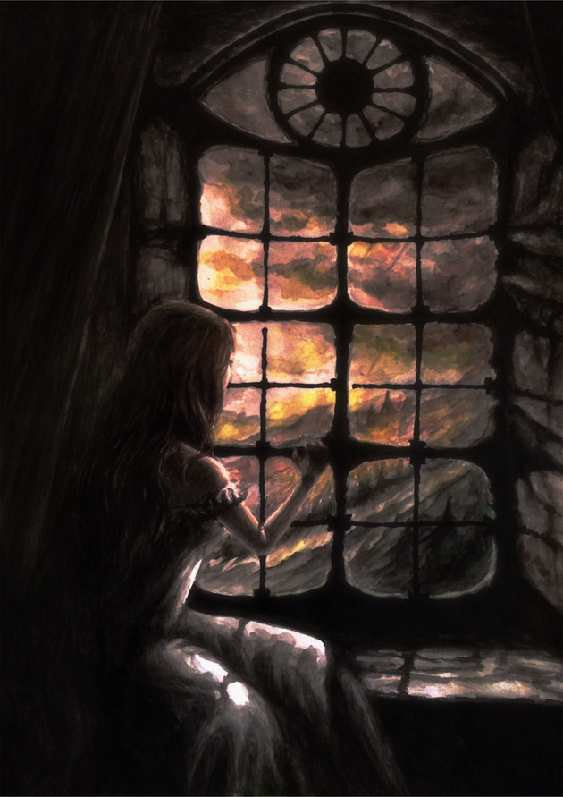 Illustration 1 till boken Och mörkret föll