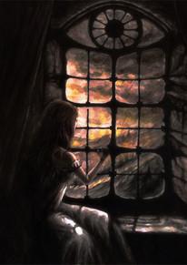 Melinda vid fönstret