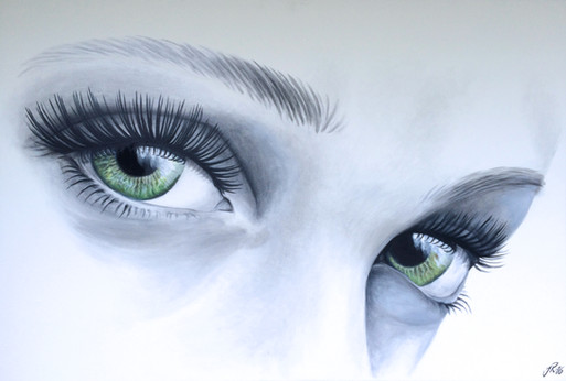 Tavla Målning Akrylmålning Ögon Ögonfransar