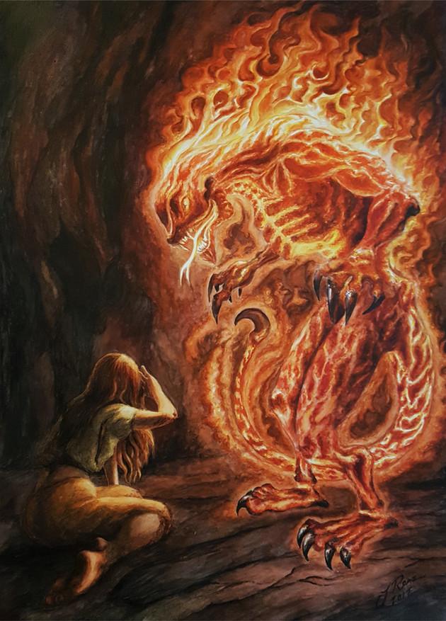 Illustration 2 till boken Röda skyar