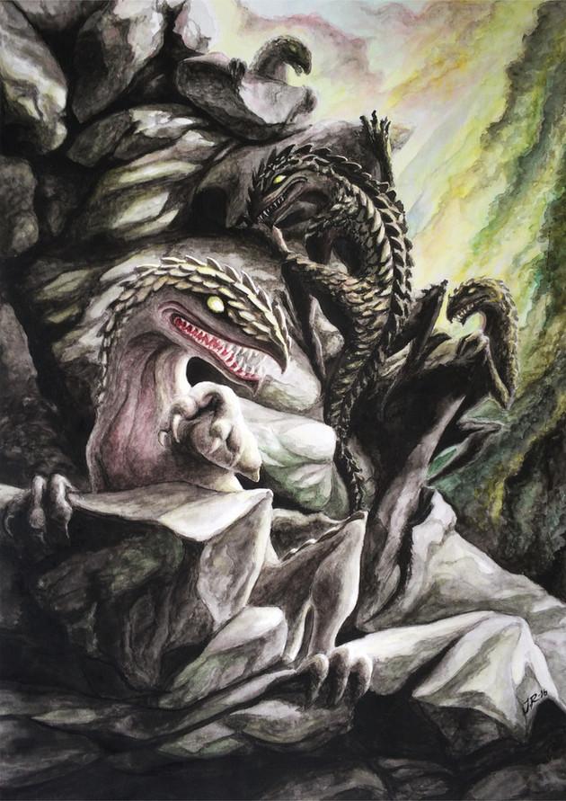 Illustration 2 till boken Och mörkret föll