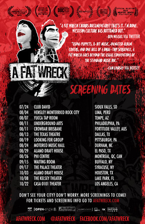 A Fat Wreck Announces First Round of Screenings.