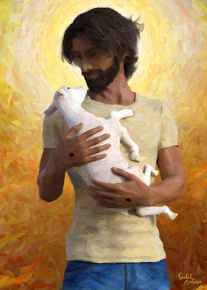 Jesus the Good Shepherd (Print)