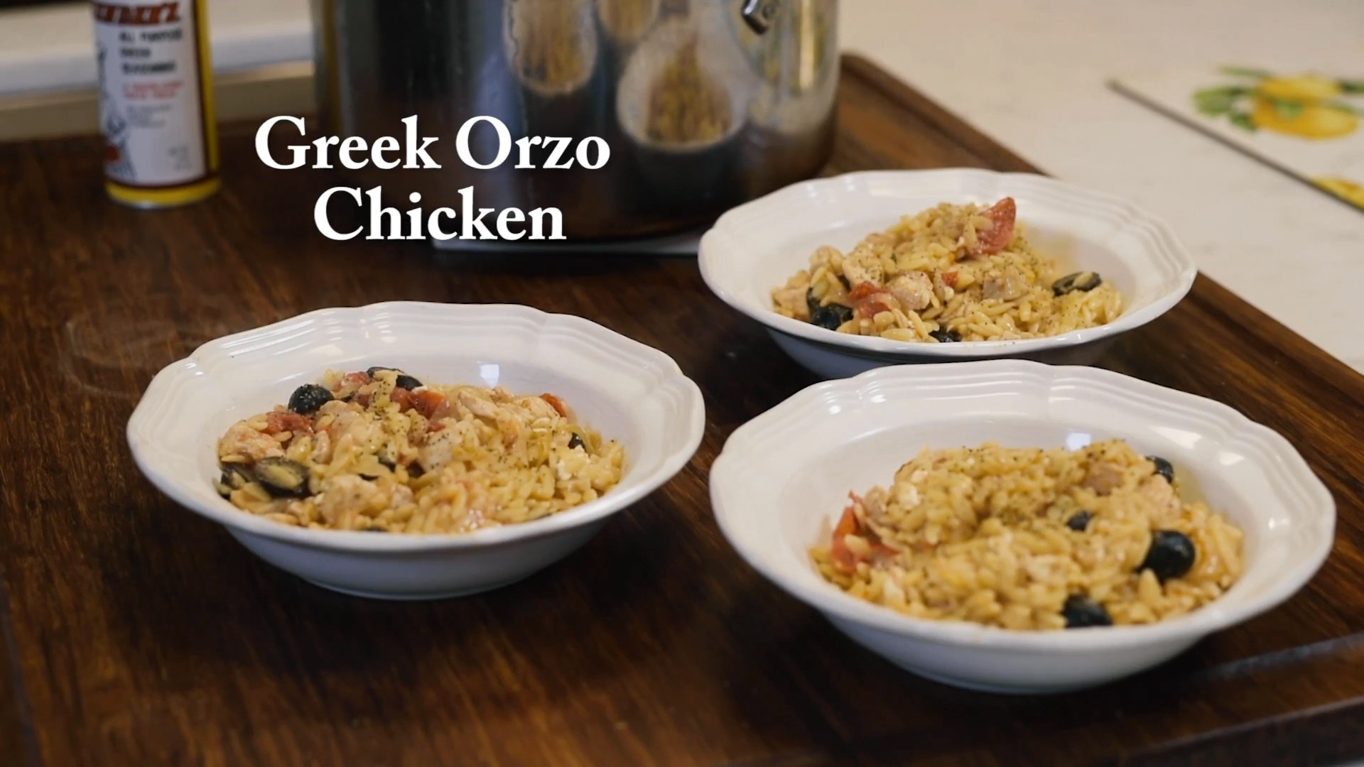 Greek Orzo Chicken