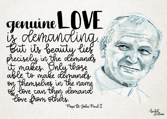 Pope St. John Paul II (Print)