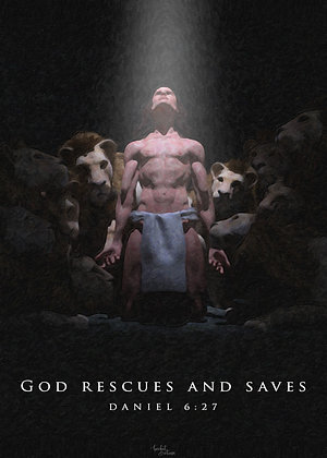 God Rescues and Saves (Print)