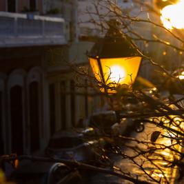 Puerto Rico | Sunset Street Lamp