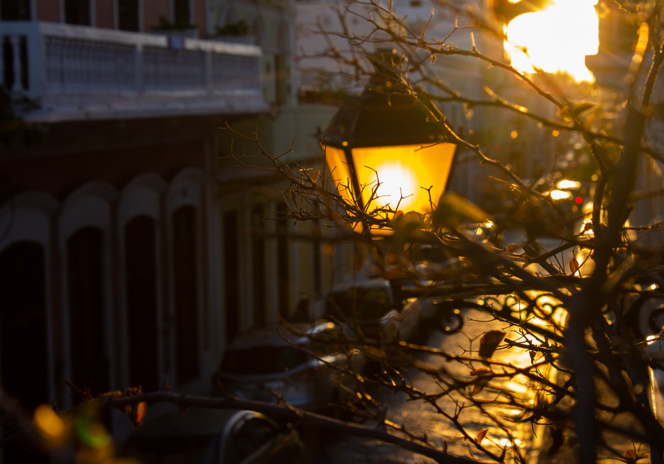 Puerto Rico | Sunset Street Lamp