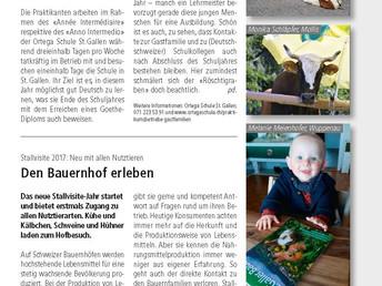 Artikel im St. Galler Bauer