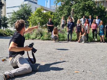 Fotoshooting im Park