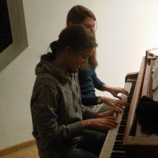 Pianoles op de concertvleugel van Passiemento
