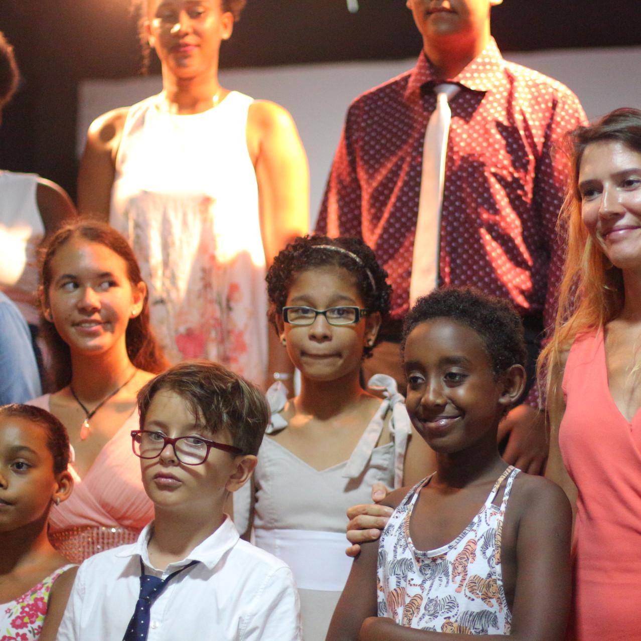 Na een muzikaal optreden van de kinderen