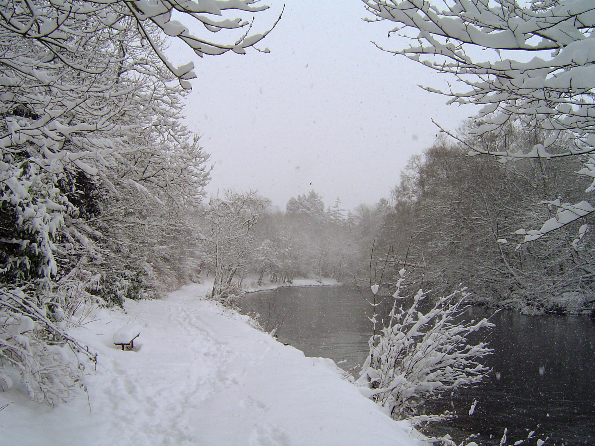 The river Walk in Winter