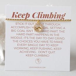 Keep Climbing Bracelet, Mountain