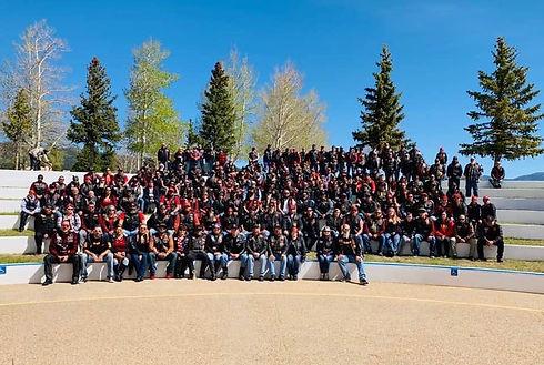 Marines MC at Veterans Memorial in Angelfire, NM