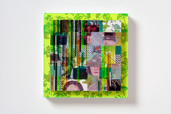 Psychedelic quilt – green