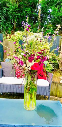 un bouquet champêtre maison!