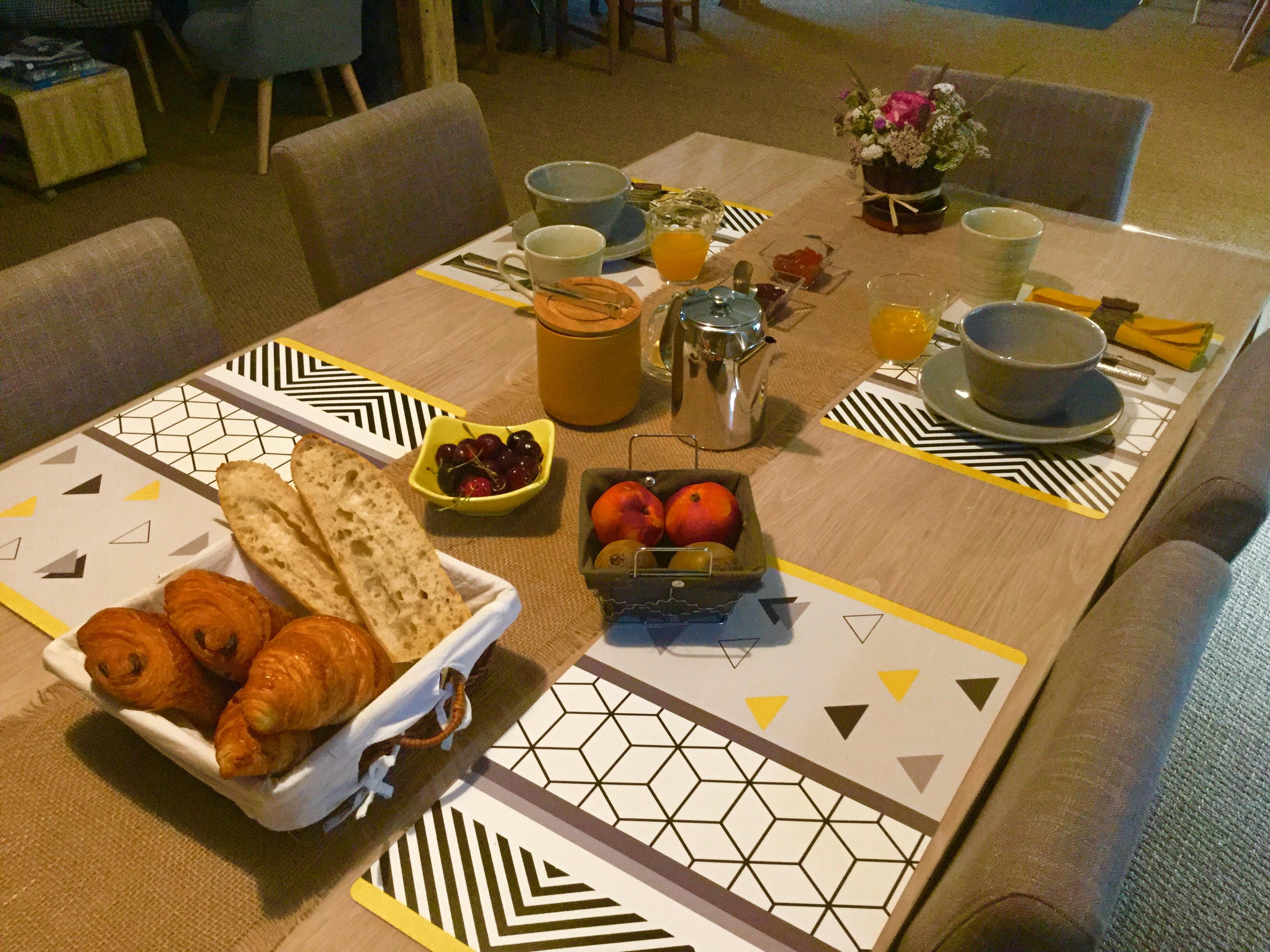 profitez d'un petit-déjeuner copieux