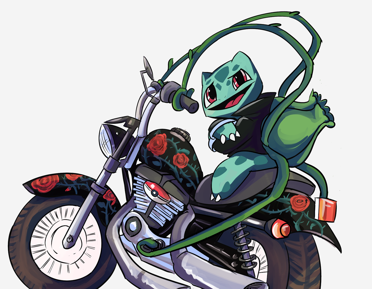 Bulbasaur Motorcycle
