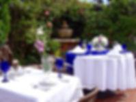 Formal patio setting