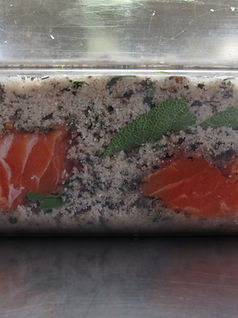 "House-Cured ""Ancient Forest"" Gravlax"