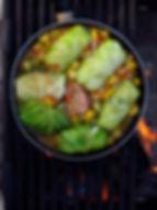 Campfire Cabbage Rolls w/ Summer Squash