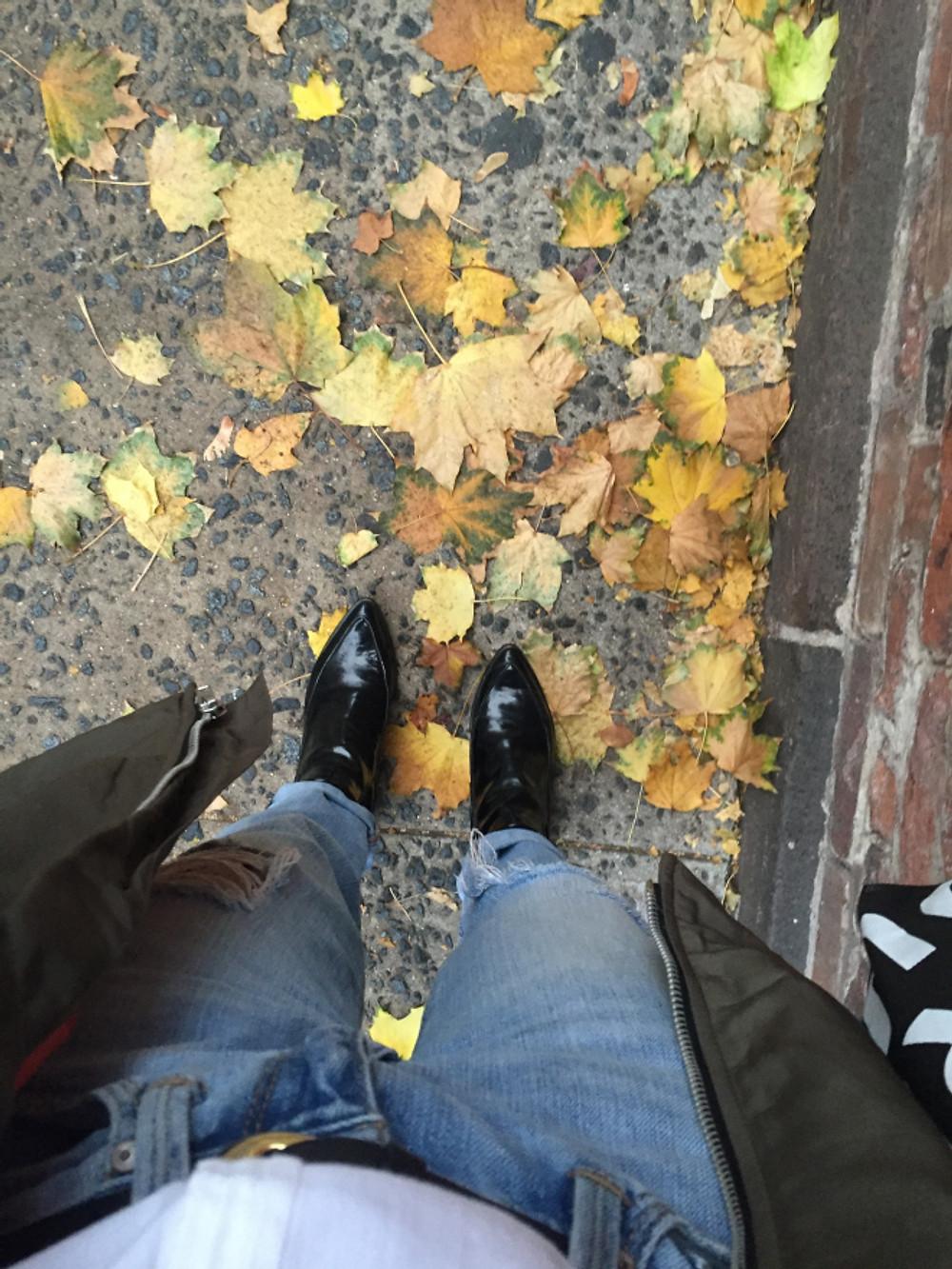 walking through new york city