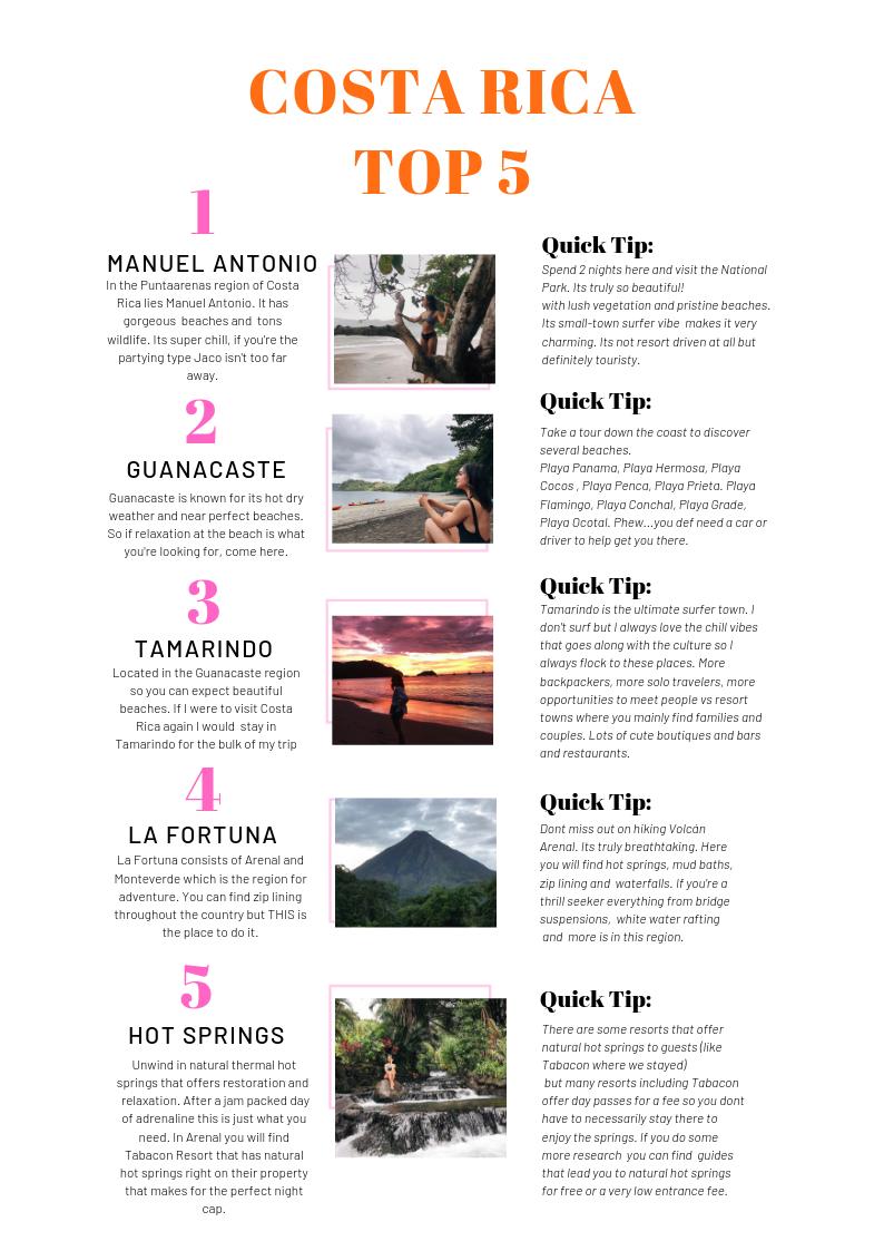costa rica travel guide millennial woman