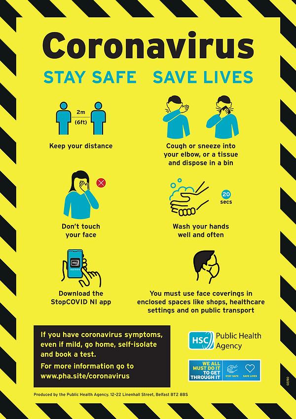 Coronavirus stay safe save lives updated