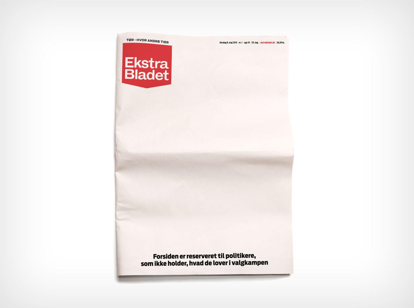 Ekstra Bladet Blank Frontpage