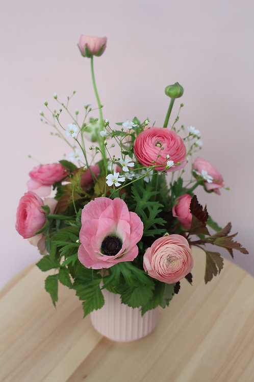 Ranunculus+Anemone Bouquet Subscription - 2 Weeks