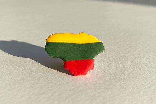 Pin Lithuanian Flag Colored Lithuania shape
