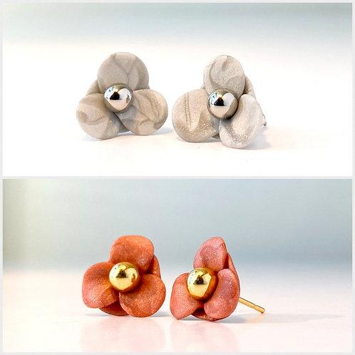 Female earrings PETAL FLOWERS