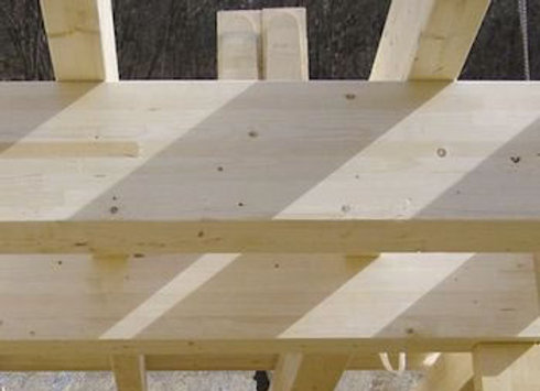 Brettschichtholz-Balken