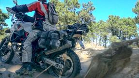 Adventure bike STUCK IN SAND