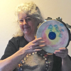 Painted drum by Mary Rose
